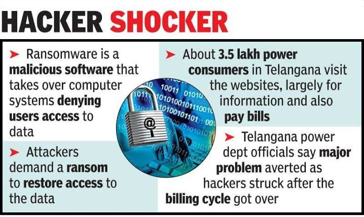 Ransomware attack in India: Telangana and AP Power Utilities Hacked