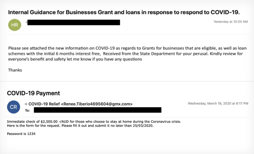 COVID-19 Phishing Email (Example)