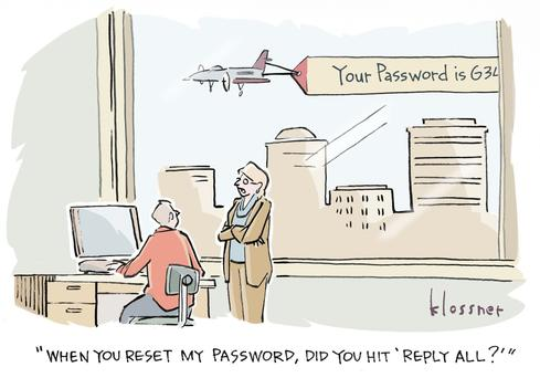 Password sharing at work is not healthy